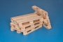 4 x natural wood pallets self assembly kit