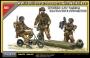 Британские десантники с мотоциклами Welbike, набор 3 фигуры.