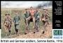 Британские и немецкие солдаты. Битва на Сомме.