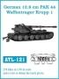 МЕТАЛЛИЧЕСКИЕ ТРАКИ 1/35*: Германия, 12.8cm PAK 44 / Waffentrage