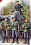 Немецкие пехотинцы набор №1, набор 4 фигуры: 3 пехотинца и танко