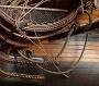 Нить полиэфирная 1,5 мм ручной кабельной работы, коричневая, 1 м