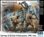 Рукопашная: Немецкая и британская пехота. WWI