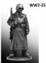Рядовой пехоты Вермахта (Германия) в караульных ботах. 1942-43 г