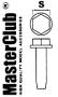 головка болта с шайбой, размер под ключ - 1.0mm;  диаметр отверс