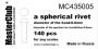 сферическая заклепка, диаметр-0.8mm;  диаметр отверстия для монт